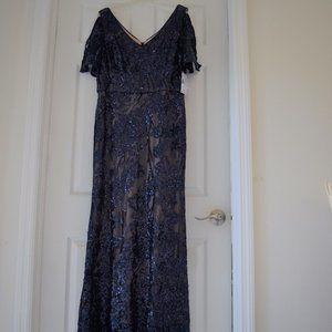 Alex Evenings Floral Dress Size 16 Petite